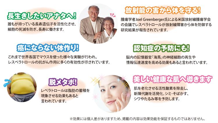 長寿、癌、メタボ、認知症予防だけでなく、美しい健康なお肌へも導きます